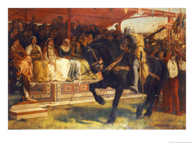 The Queen of the Tournament, 1885 Giclee Print
