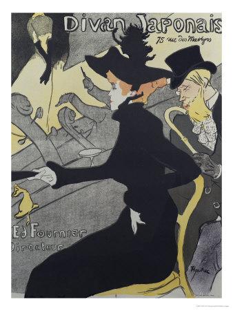 Divan Japonais, 1893 Premium Giclee Print by Henri de Toulouse-Lautrec