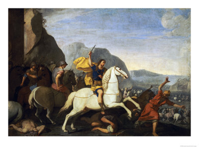 Saint James at the Battle of Clavijo Giclée-tryk af Aniello Falcone