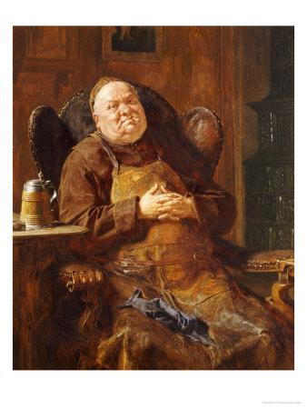 A Quiet Smoke, 1895 Premium Giclee Print by Eduard Von Grutzner