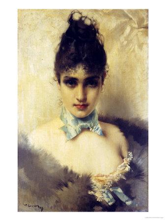 An Elegant Beauty, 1887 Stampa giclée di Vittorio Corcos