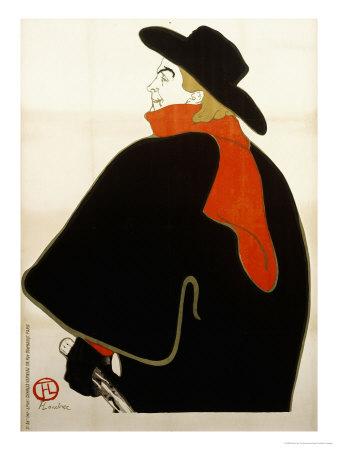 Aristide Bruant Dans Son Cabaret, 1893 Lámina giclée por Henri de Toulouse-Lautrec
