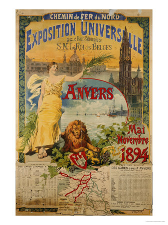 Exposition Universalle, Anvers, 1894 Premium Giclee Print by Gustave Fraipont