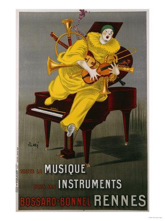 Toute la Musique, Tous Les Instruments, 1925 Premium Giclee Print by  Lotti