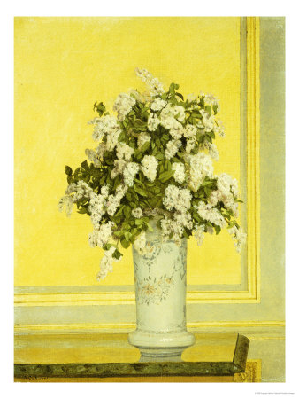 Floral Still Life, 1885 Premium Giclee Print by Auguste Hector Cabuzel