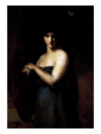 At the Fountain Premium Giclee Print by Jean Jacques Henner