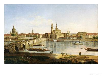 A View of Dresden Premium Giclee Print by Karl Gottfried Traugott Faber