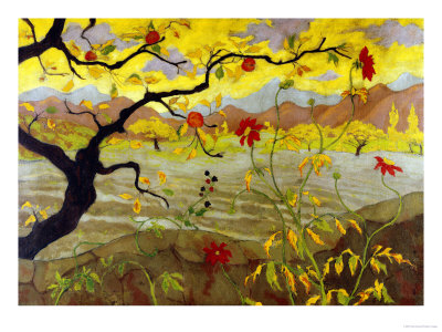 Apple Tree with Red Fruit, c.1902 Premium Giclee Print by Paul Ranson