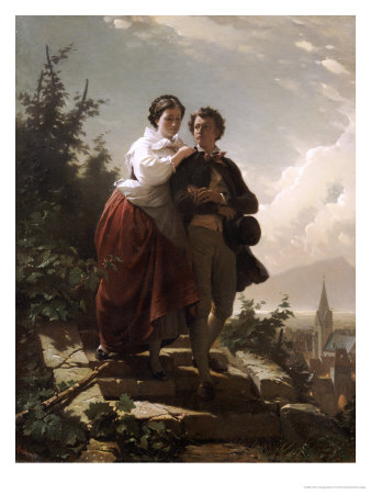 Hermann and Dorothea, 1872 Giclee Print by Arthur Georges Baron Von Ramberg