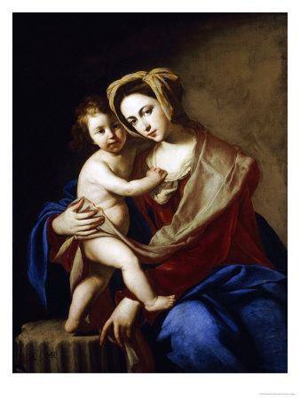 The Madonna and Child Premium Giclee Print by Massimo Stanzione