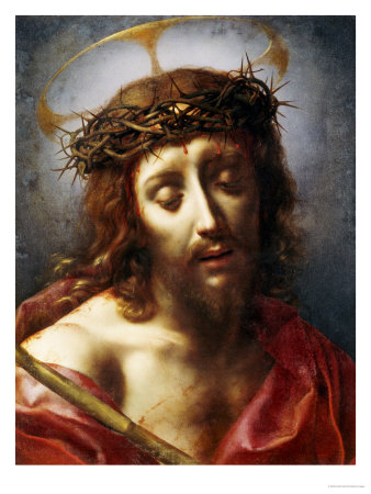 Christ as the Man of Sorrows Premium Giclee Print by Carlo Dolci