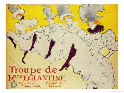 La Troupe de Mademoiselle Eglantine, 1896 Premium Giclee Print by Henri de Toulouse-Lautrec
