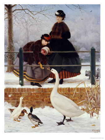 Frozen Out, 1866 Premium Giclee Print by George Dunlop Leslie