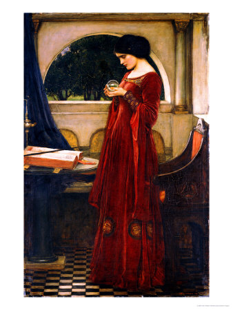 The Crystal Ball, 1902 Premium Giclee Print by John William Waterhouse