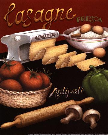 Lasagna Kunsttryk
