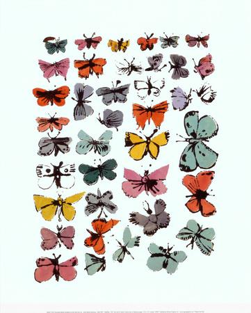 Kelebekler, 1955 Sanatsal Reprodüksiyon