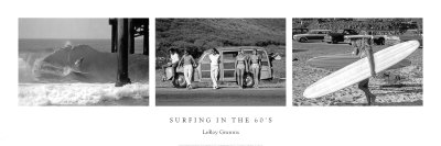 Surfing in the 60's Poster Print