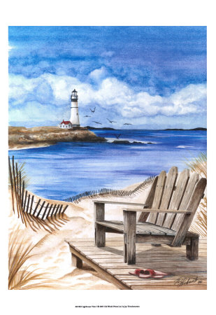 Lighthouse View I Print by Jay Throckmorton