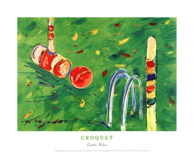 Croquet Art by Cynthia Hudson