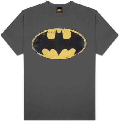Batman - Distressed Shield Shirts