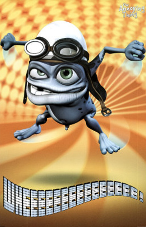 Crazy Frog The Annoying Thing Yellow Bursts Art Print Poster Print