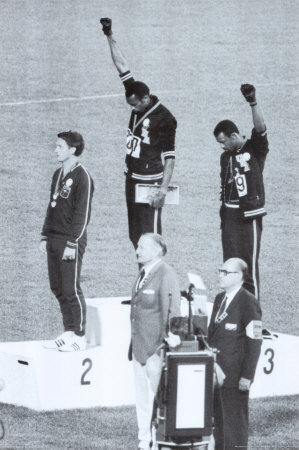 Black Power, Jeux olympiques de Mexico, 1968 (champions noirs sympathisants des Black Panthers) Affiche