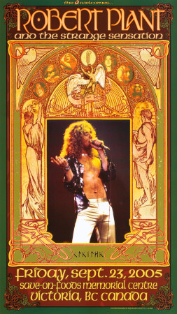 Robert Plant Victoria Concert Posters by Bob Masse