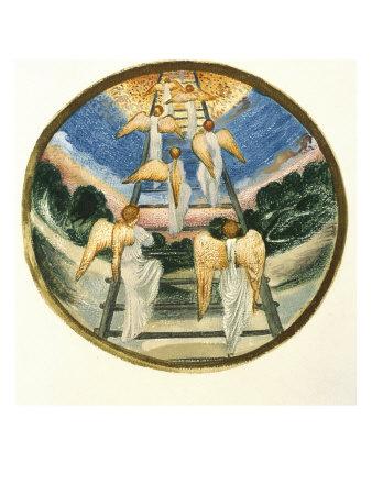 Jacob's Ladder Giclee Print by Edward Burne-Jones