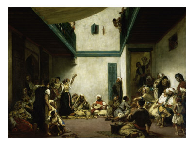 Jewish Wedding in Morocco Giclee Print by Eugene Delacroix