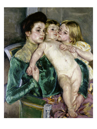Child's Caress Giclee Print by Mary Cassatt