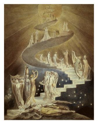 Jacob's Ladder Giclee Print by William Blake