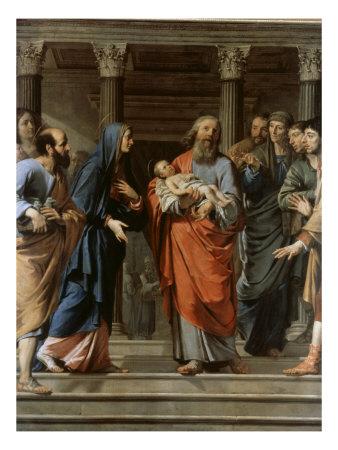 Presentation in the Temple Giclee Print by Philippe De Champaigne