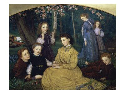 A Birthday Picnic Giclee Print by Arthur Hughes