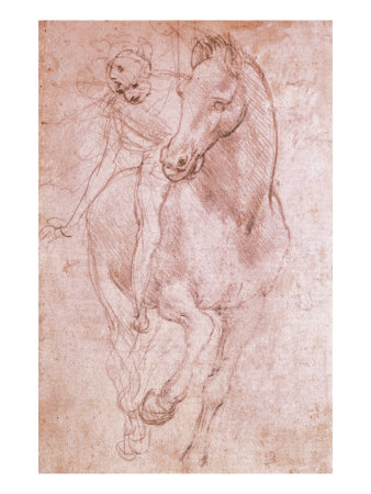 Horse and Rider Giclee Print by Leonardo da Vinci at AllPosters.com