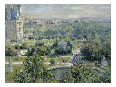 View of the Tuileries Giclee Print by Claude Monet