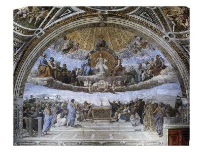 La Disputa (Disputation of the Holy Sacrament) Giclee Print by  Raphael