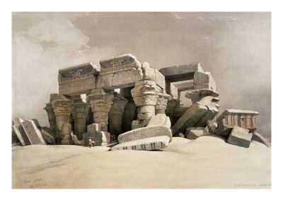 Ruins of the Temple of Kom-Ombo, Upper Egypt Lmina gicle