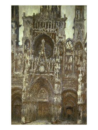 Cathedrale de Rouen-Harmonie Brune Giclee Print by Claude Monet