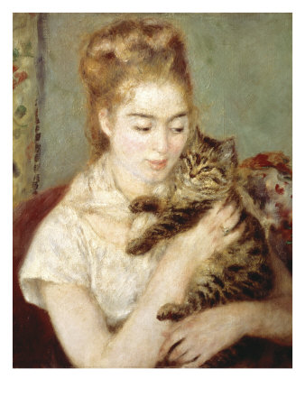 Woman with a Cat Giclee Print