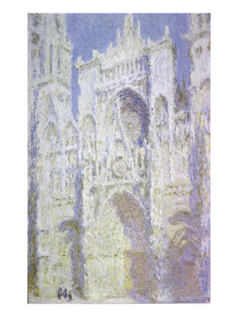 Sunlight, Rouen Cathedral: West Facade Giclee Print by Claude Monet