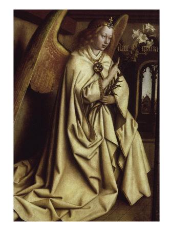 Archangel Gabriel, Ghent Altarpiece Giclee Print by Jan van Eyck ...