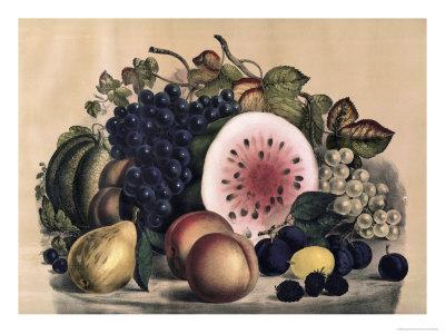 Autumn Fruit Giclée-Druck von  Currier & Ives