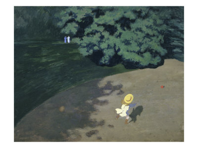 Child Playing with the Ball (Corner of the Park Giclée-Druck von Félix Vallotton