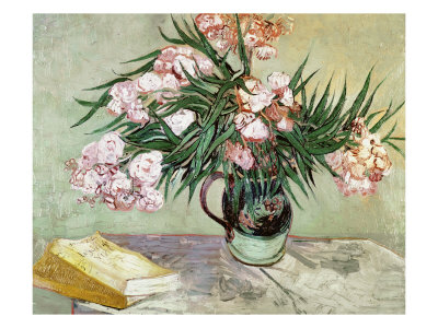 Vase with Oleanders and Books, c.1888 Giclee Print