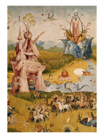 Garden of Earthly Delights, Detail No.3 Giclée-tryk af Hieronymus Bosch