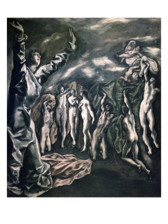 The Vision of Saint John Giclee Print by  El Greco