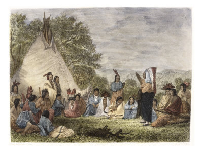 Indians in Council Giclee Print