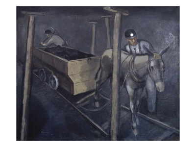 The Old Mine Mule Giclee Print by Richard Crist