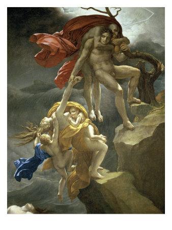 Scene de Deluge Giclee Print by Anne-Louis Girodet de Roussy-Trioson
