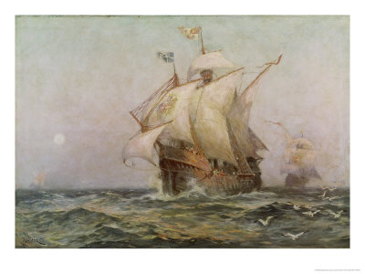 The Eve of Discovery, 1492 Giclee Print by Jean Leon Gerome Ferris